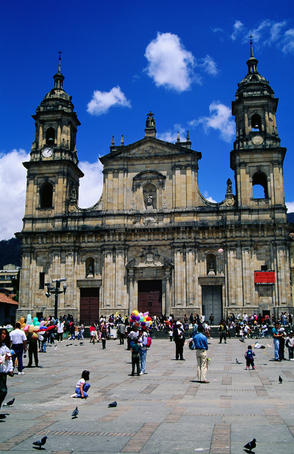 Crowds in Plaza de Bolivar, the heart of the original town - Bogota, Bogota Capital District