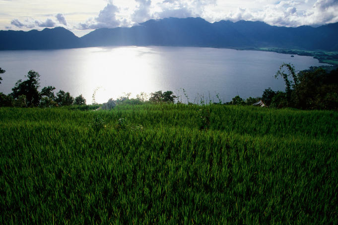Lake Maninjau near Bukittinggi.