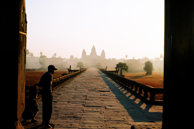 Angkor Wat at dawn.