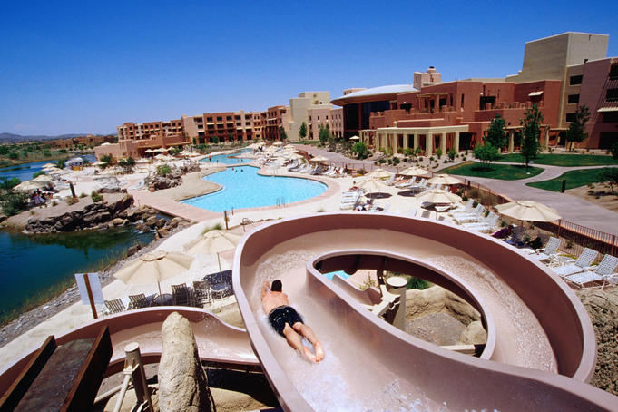 Water-slide at Wild Horse Pass Resort.