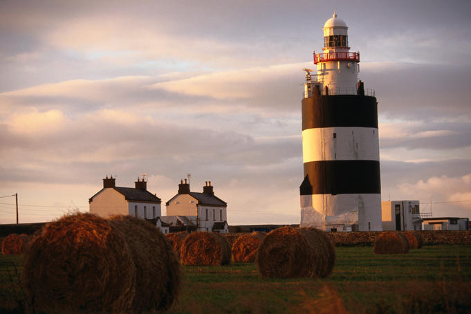 The Hook Head Lighthouse in County Wexford was built in the 13th century by William Pembroke