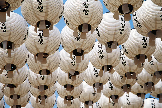 Paper lanterns at Bongeunsa Temple.