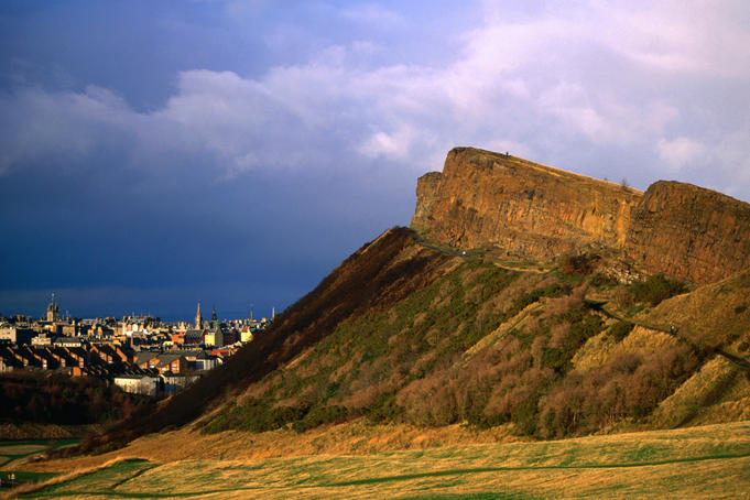 Salisbury Crags in Holyrood Park.