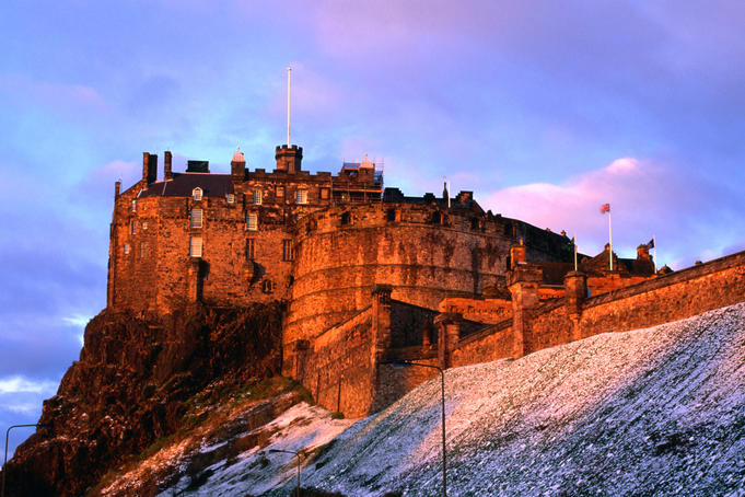 Edinburgh Castle seen from Johnston Terrace.