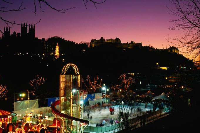 Princes Street Gardens at Christmas.