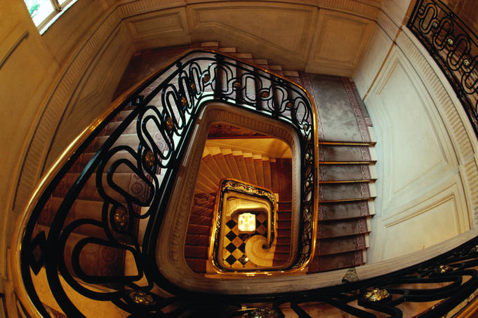 Stairs in Hotel de Crillion.