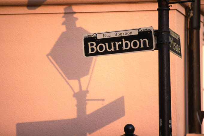 Sign for Bourbon Street.