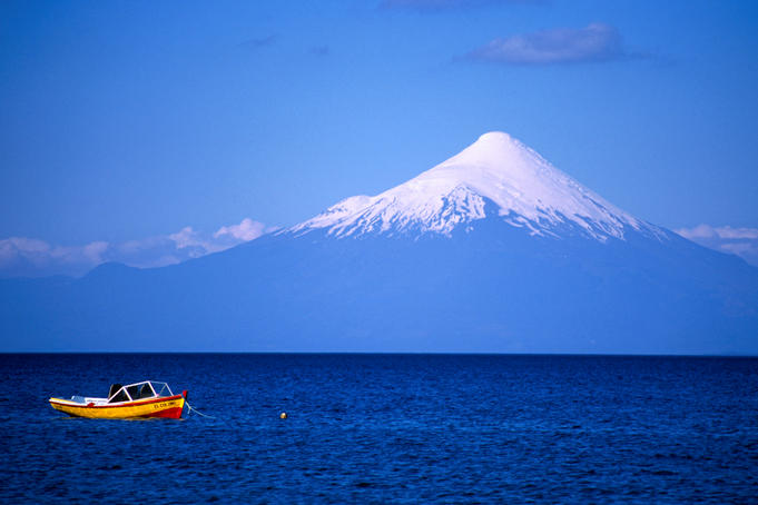 Boat on Lake Llanquihue.
