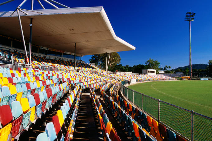 Seats and oval, Bundaberg Rum Stadium.