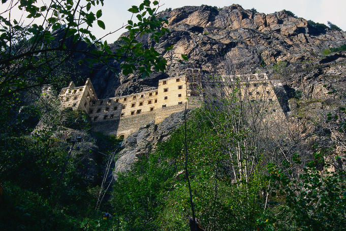 The Greek Orthodox Monastery that clings to a sheer rock face was founded in Byzantine times and abandoned in 1923 after the creation of the Turkish Republic - Sumela, Black Sea Coast