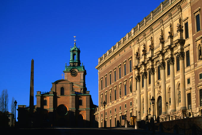 Storkyrkan and Kungliga Slottet (royal palace).