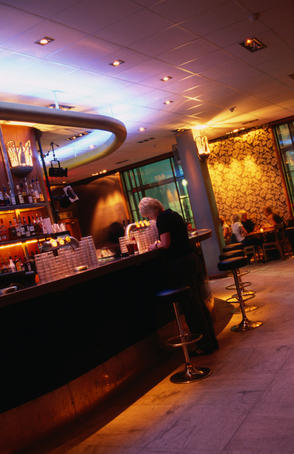 Interior of Mondo bar.