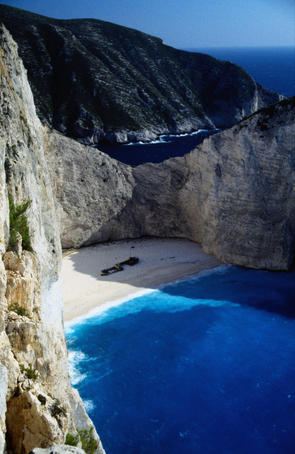 Smugglers Cove situated at the gulf of St. Georgios - Zakynthos Island, Ionian Islands