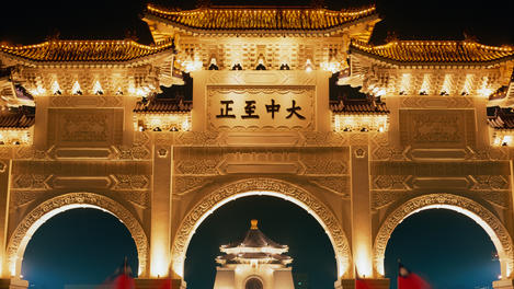 Chiang Kaishek Memorial gates, Taipei