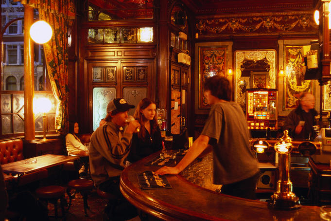 Bar in Princess Louise pub.