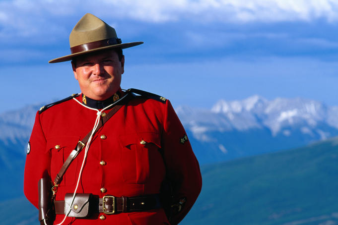 Portrait of a Canadian Mountie.