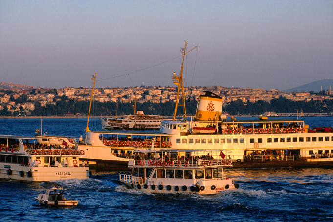 Ferries on Golden Horn.