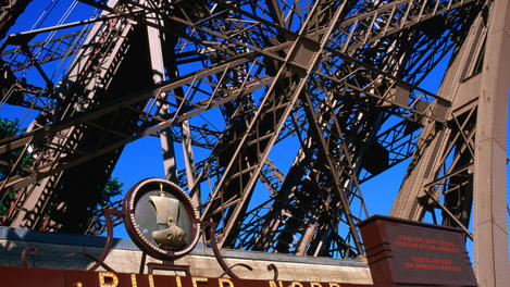 Detail of Eiffel Tower.