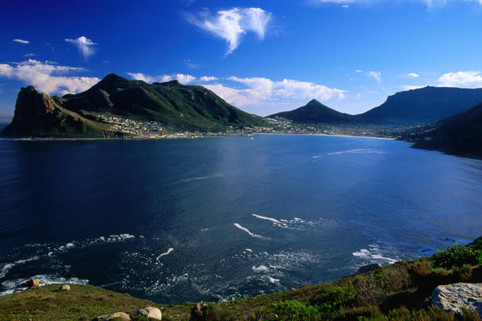 Hout Bay from Chapman's Peak Drive, Cape Peninsula.