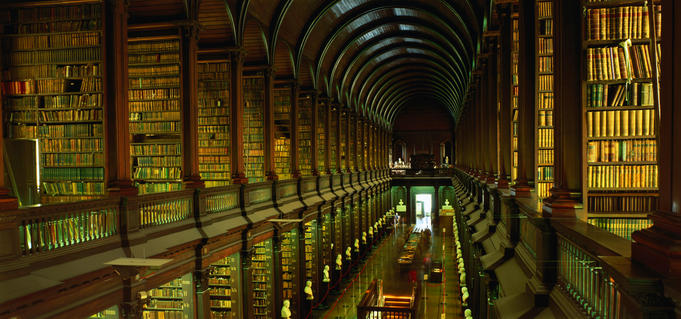 Longroom in the Old Library of Trinity College.