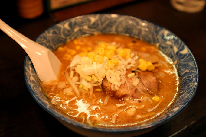 Ramen with pork in miso.