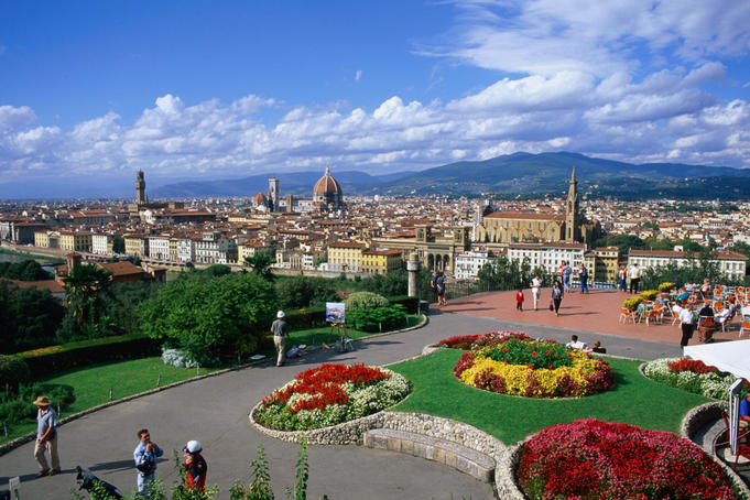 Piazzale Michelangelo and city of Florence.