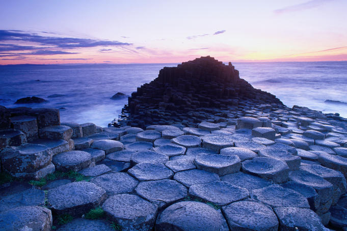 Evening at the World Heritage Site of The Giants Causeway.