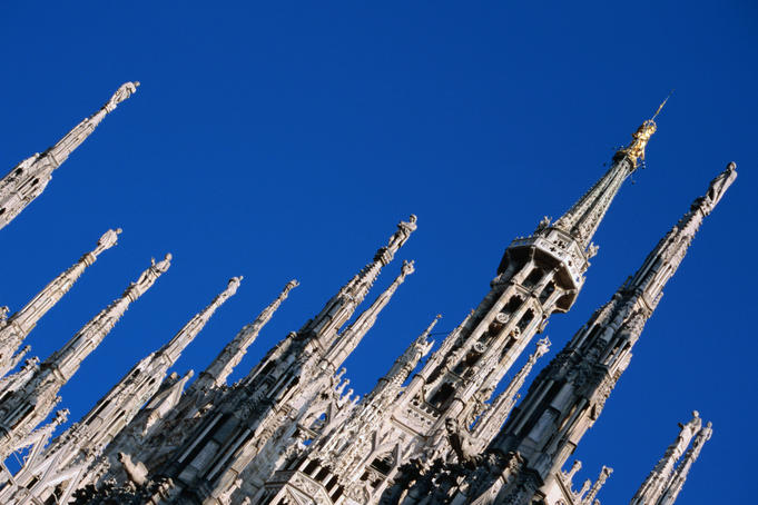 Spires of Duomo.