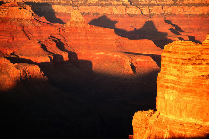 Canyon at sunrise.