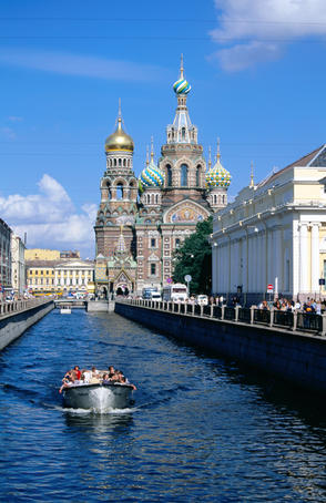 Griboedova Canal and Church of the Spilled Blood.