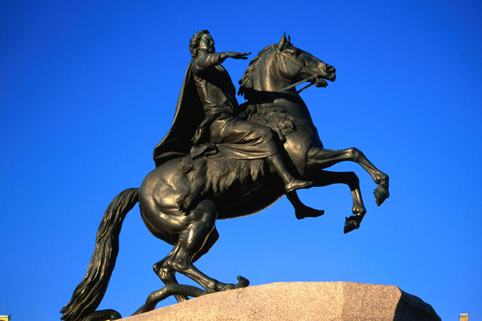 The Bronze Horseman statue.