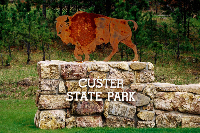 Entrance sign, Custer State Park.