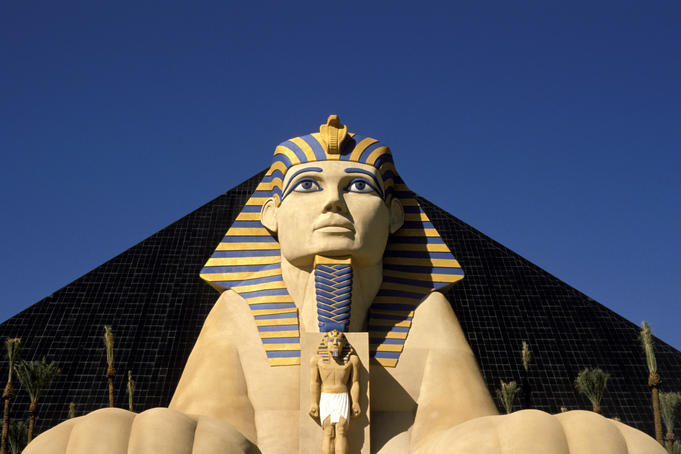 Facade of Luxor resort.
