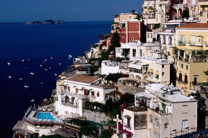 House terraced into Amalfi coastline.