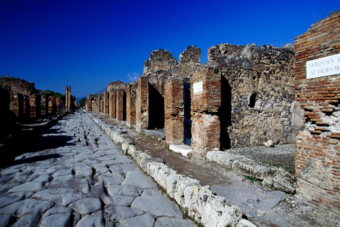 Pompei archeological site.