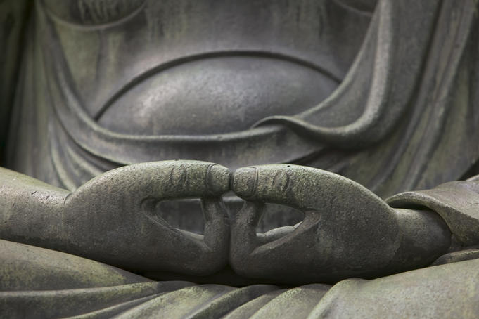Detail of Buddha statue at Senso-ji.