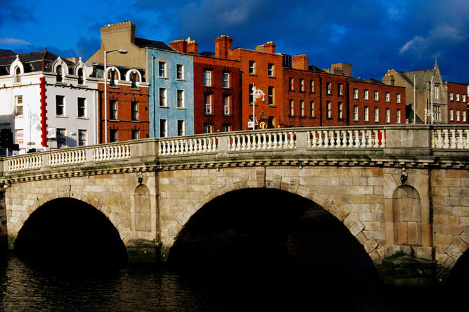 Mellows Bridge over Liffey River.