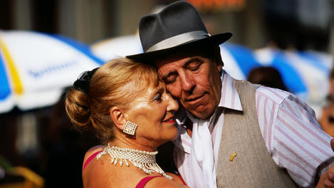 Street tango dancers, Buenos Aires
