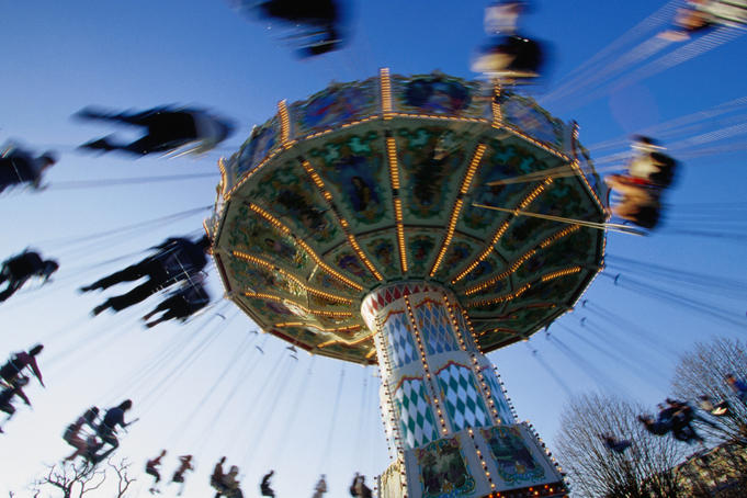 Amusement ride at Jardin d'Acclimatation.