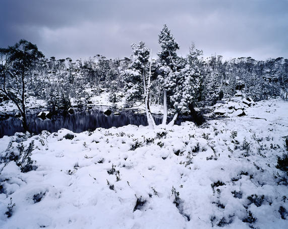 Landscape around Jewels of Solomon after snowstorm.
