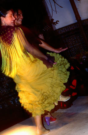 Female flamenco dancers.
