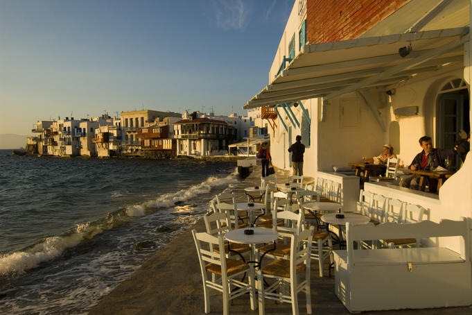 Little Venice, in the Alefkandra quarter, is a popular spot to enjoy a drink at sundown.