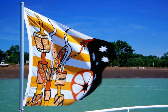 Tiwi Islands flag, Nguiu, Bathurst Island.