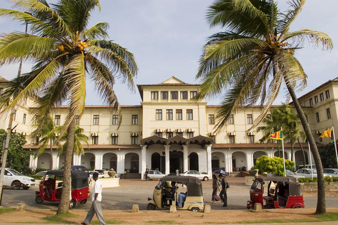 The Galle Face Hotel, a Sri Lankan institution.