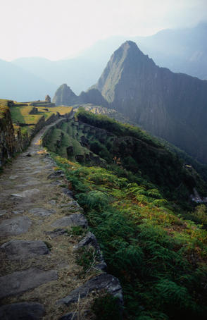 The Inca Trail and final descent into Machu Picchu