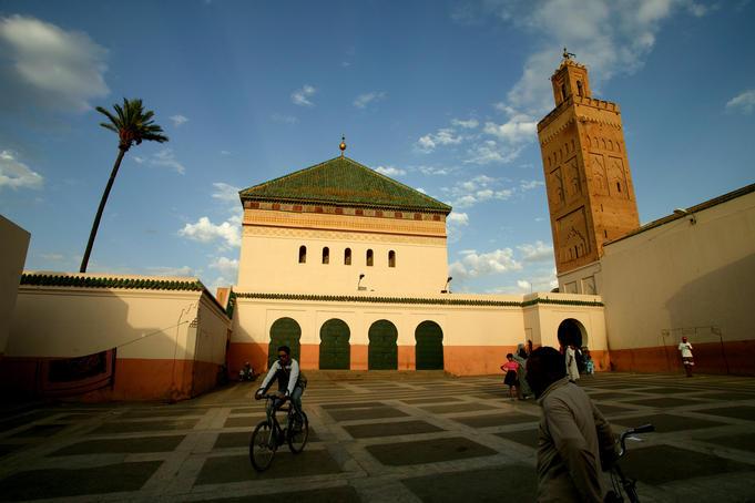 Courtyard of Sidi Bel Abbes mosque, Marrakesh