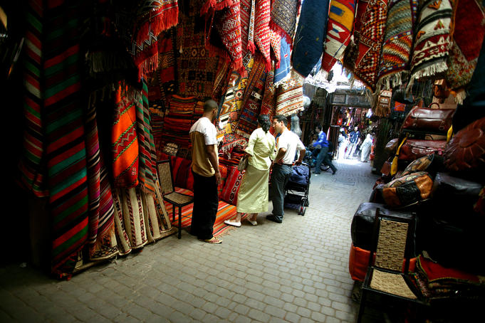 Rug sellers just outside Criee Berber.