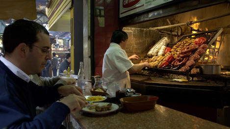 Barbecue stall, Uruguay