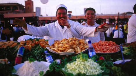 Food sellers, Djemaa-El-Fna square