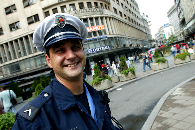 Traffic cop, Trg Republike.